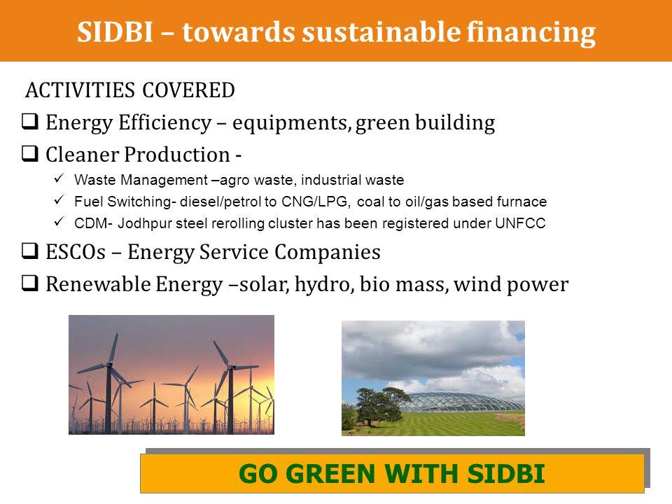 SIDBI – towards sustainable financing