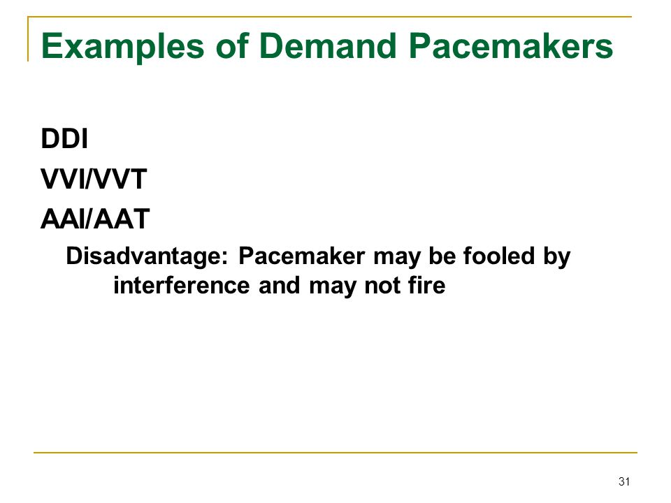 Examples of Demand Pacemakers