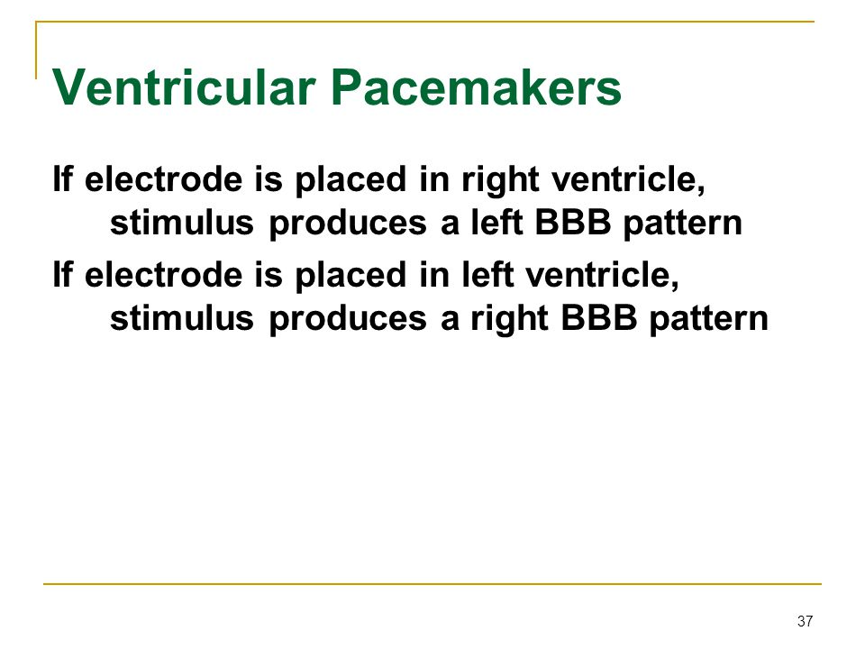 Ventricular Pacemakers