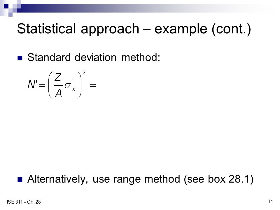 Statistical approach – example (cont.)