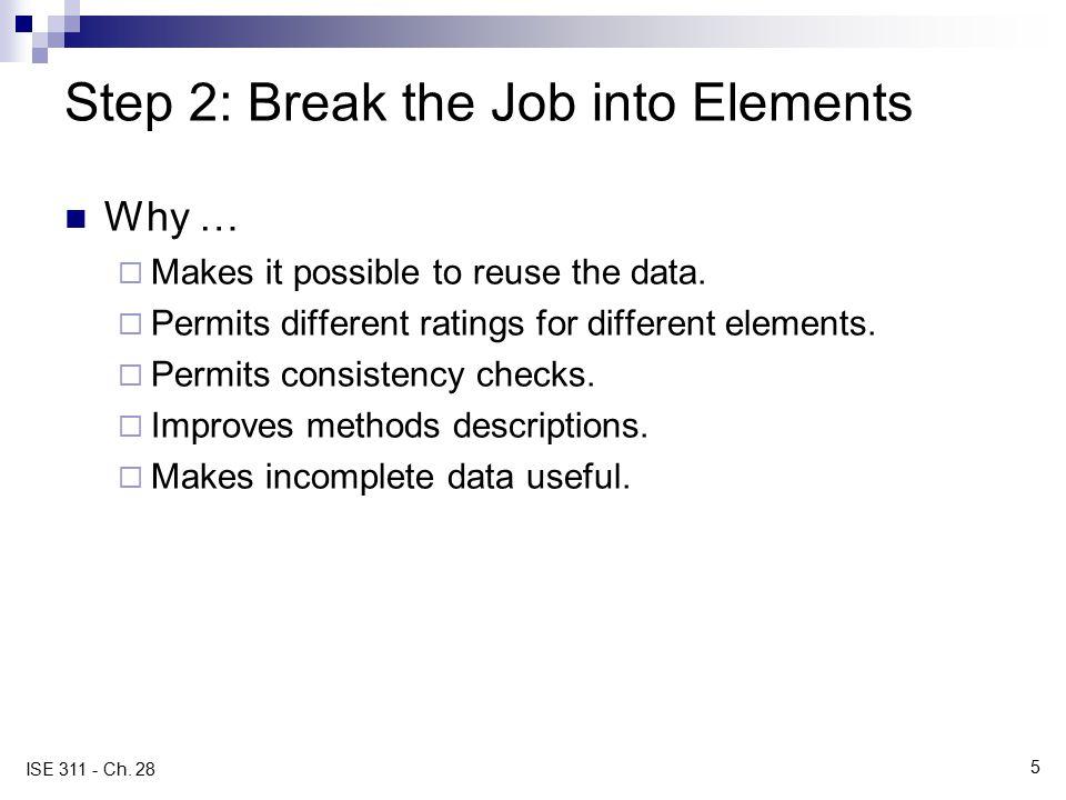 Step 2: Break the Job into Elements