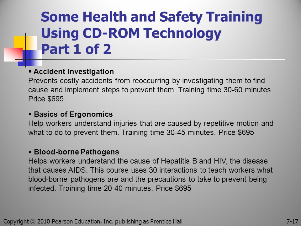 Some Health and Safety Training Using CD-ROM Technology Part 1 of 2
