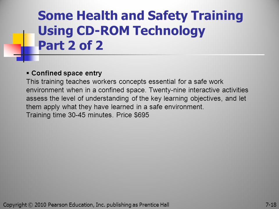 Some Health and Safety Training Using CD-ROM Technology Part 2 of 2