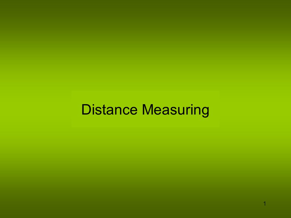 Distance Measuring