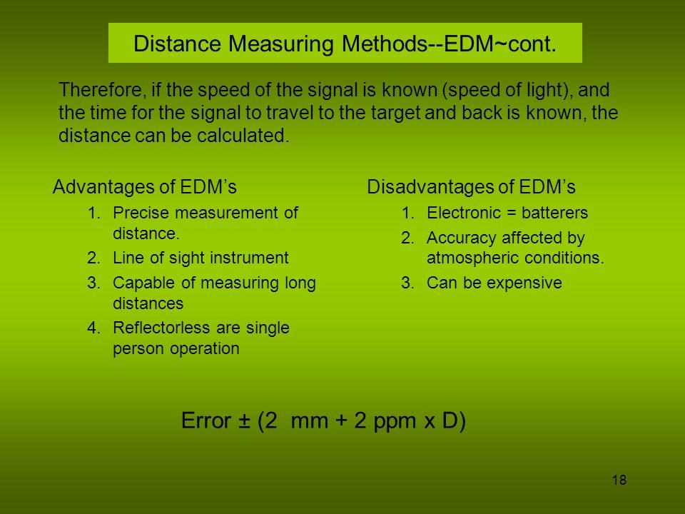 Distance Measuring Methods--EDM~cont.