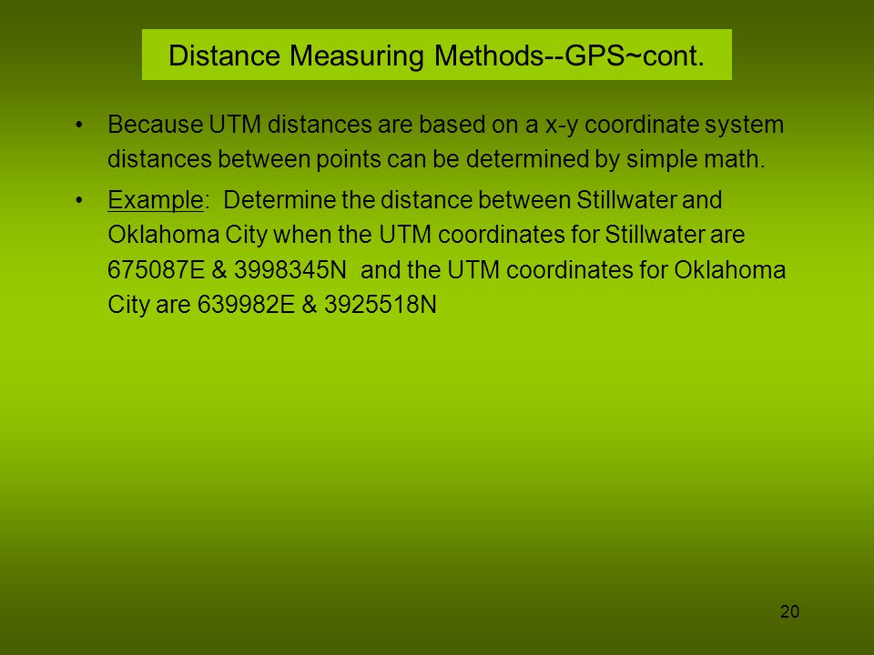 Distance Measuring Methods--GPS~cont.