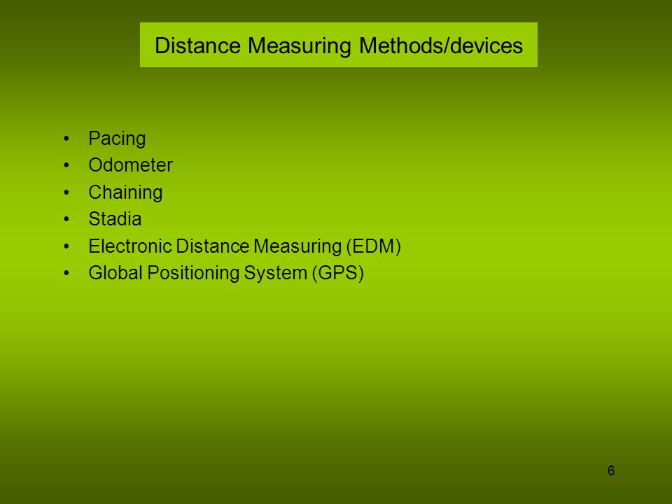 Distance Measuring Methods/devices