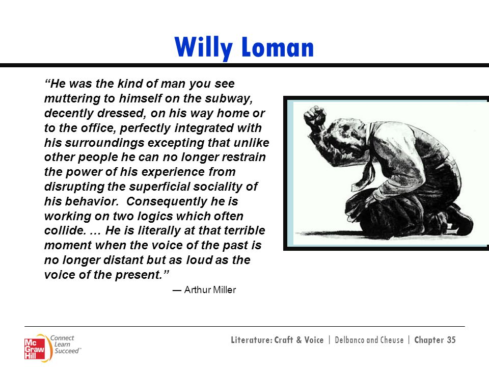 willy lomans interpretation of the american dream in death of a salesman by arthur miller Biff loman character analysis death of a salesman describes a man, biff loman, who had lost his identity and he lacks the ability to accept change within himself and the society his thinking and behaviour was the outcome of his father's mental illness and instability biff was willy's oldest son and willy was really crazy about him biff was a.