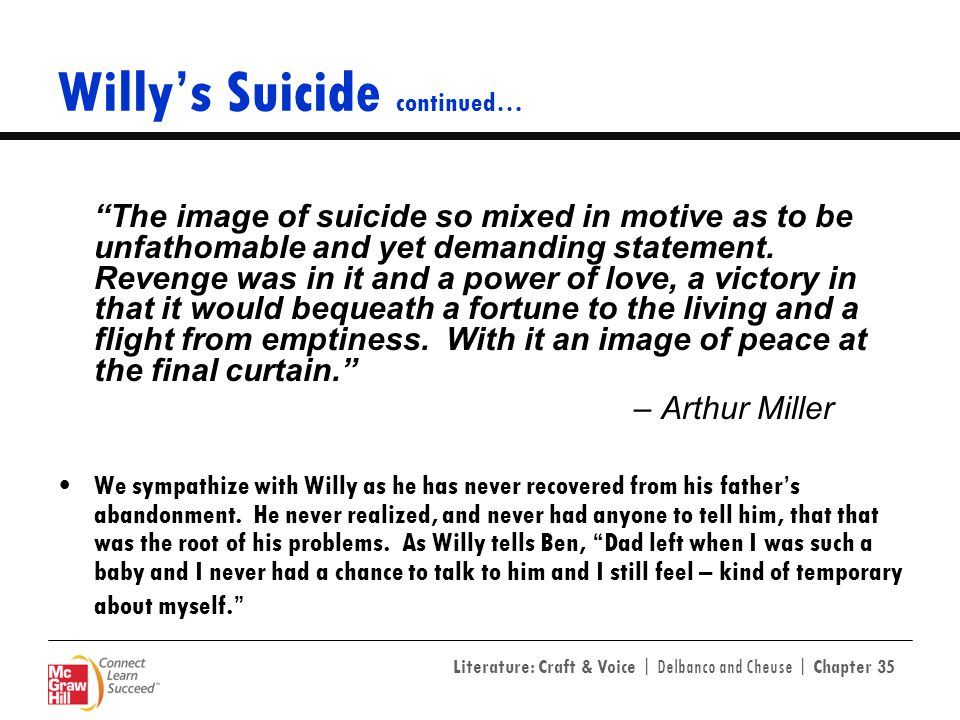 Willy's Suicide continued…