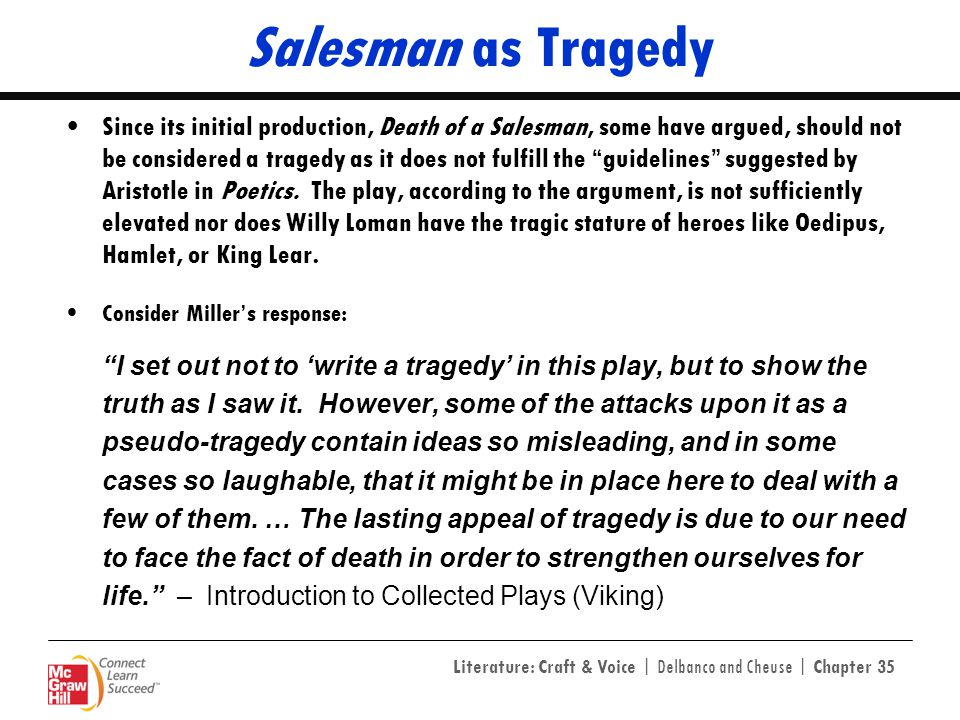 Salesman as Tragedy