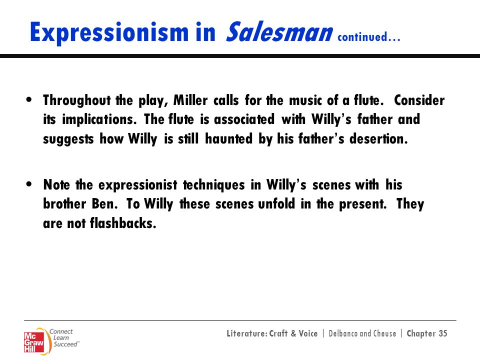 Expressionism in Salesman continued…