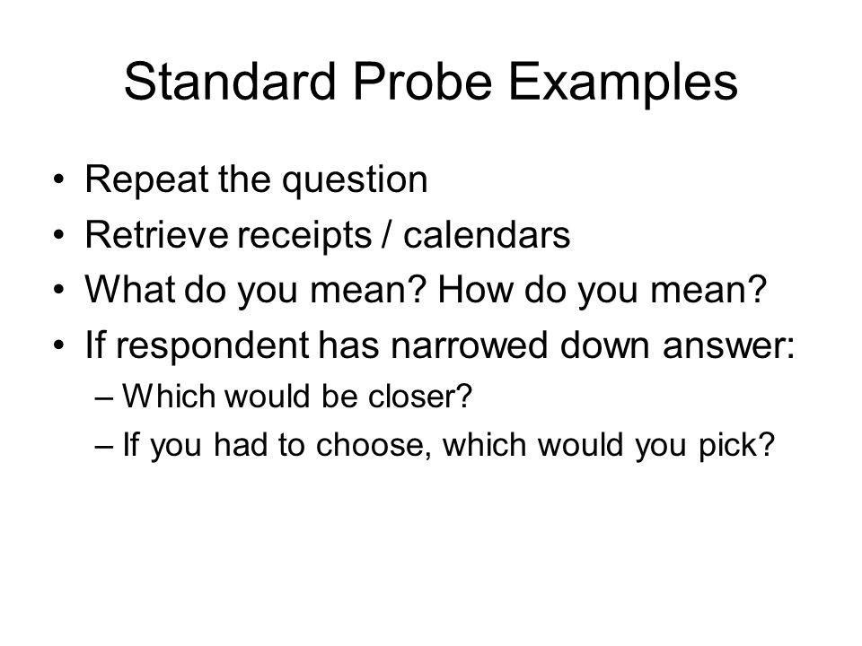 Standard Probe Examples