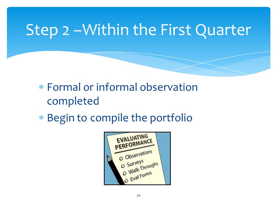 Step 2 –Within the First Quarter