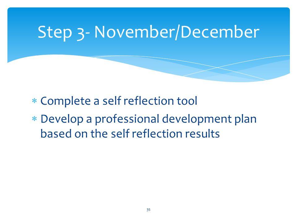 Step 3- November/December
