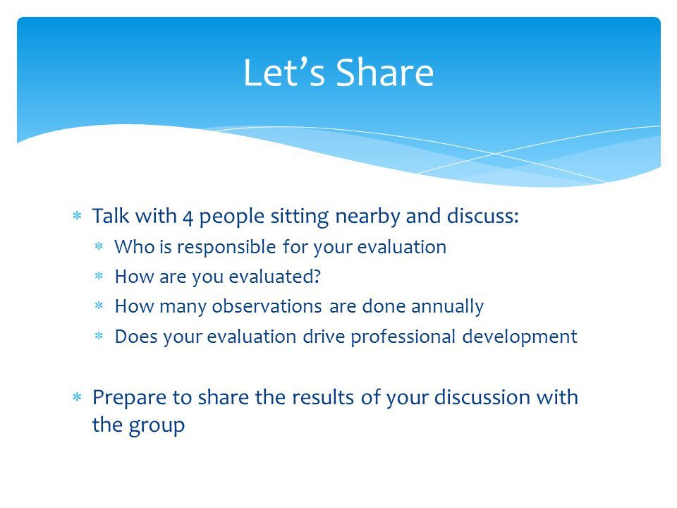 Let's Share Talk with 4 people sitting nearby and discuss: