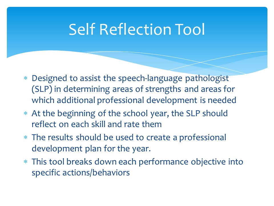 Self Reflection Tool