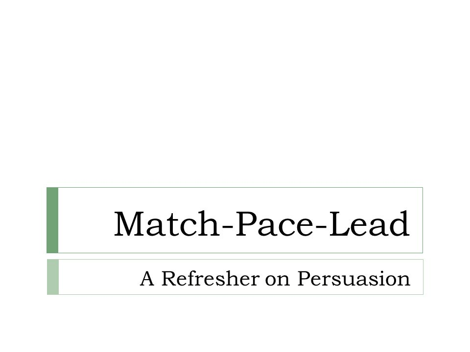 A Refresher on Persuasion
