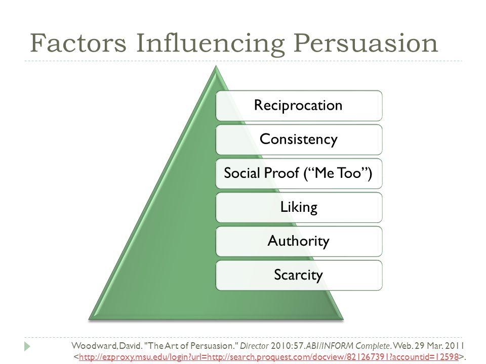 Factors Influencing Persuasion