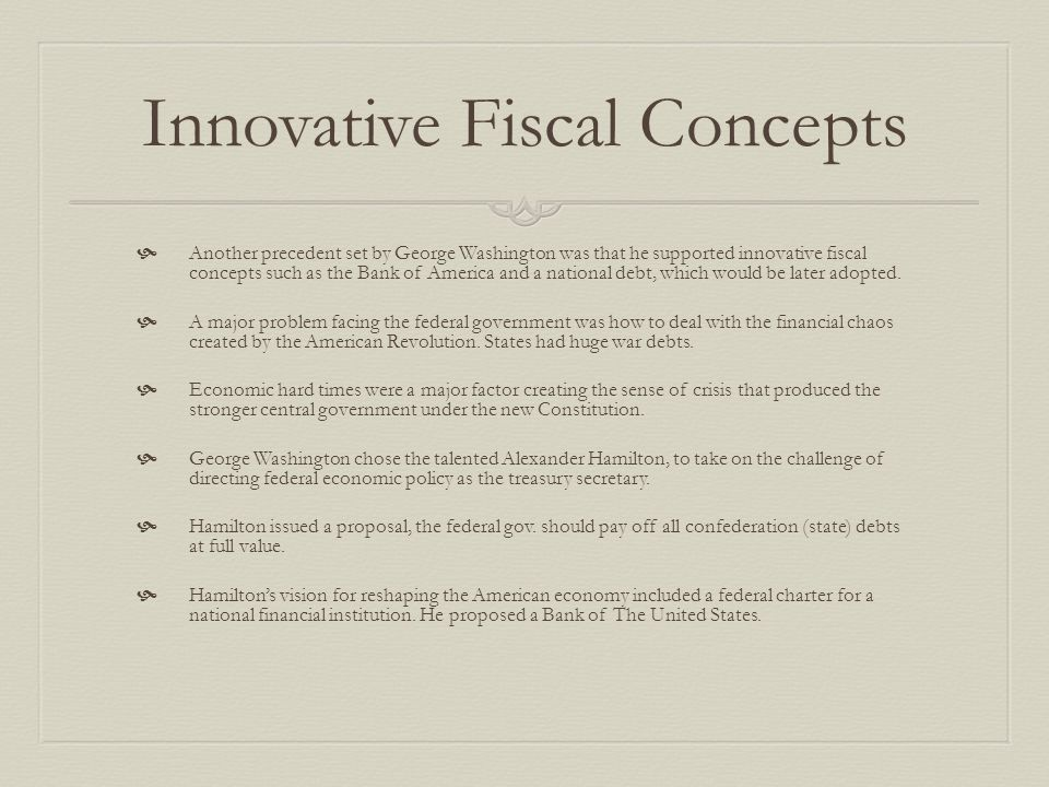 Innovative Fiscal Concepts
