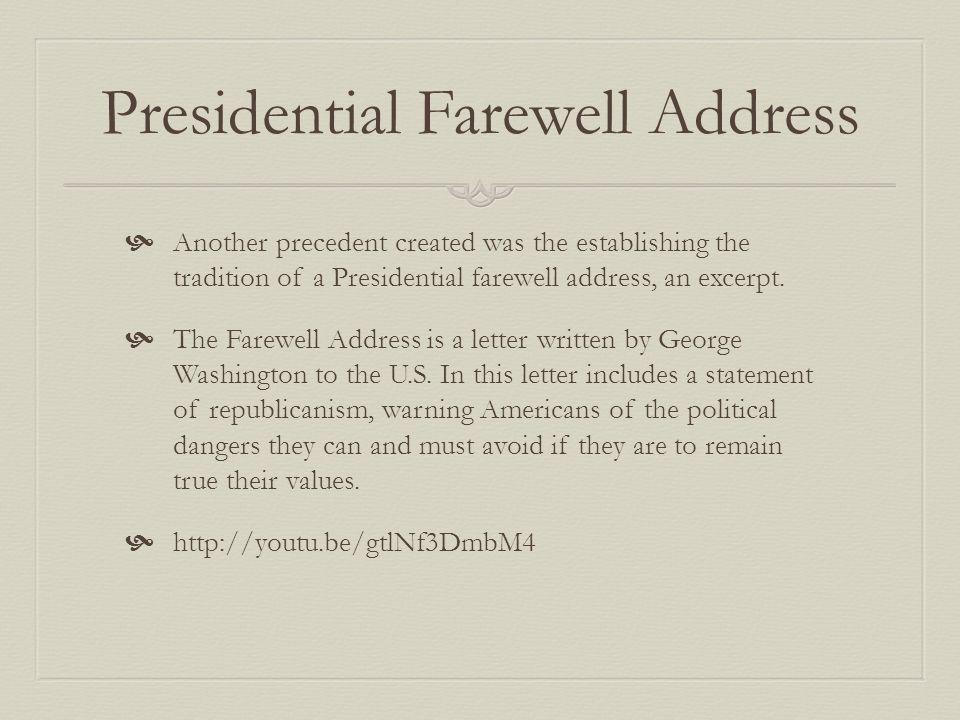 Presidential Farewell Address