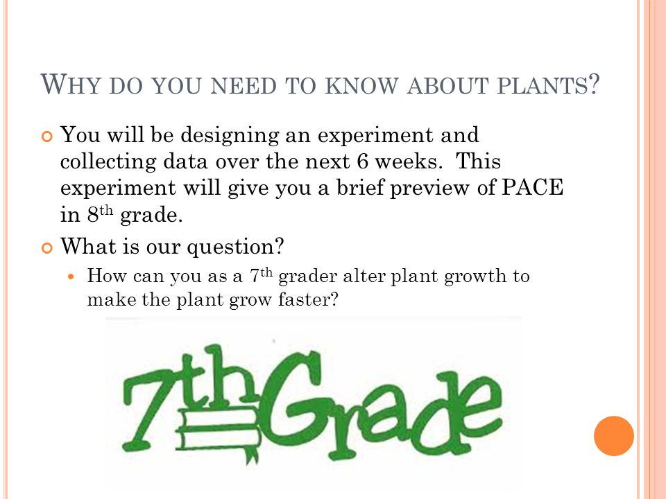 Why do you need to know about plants