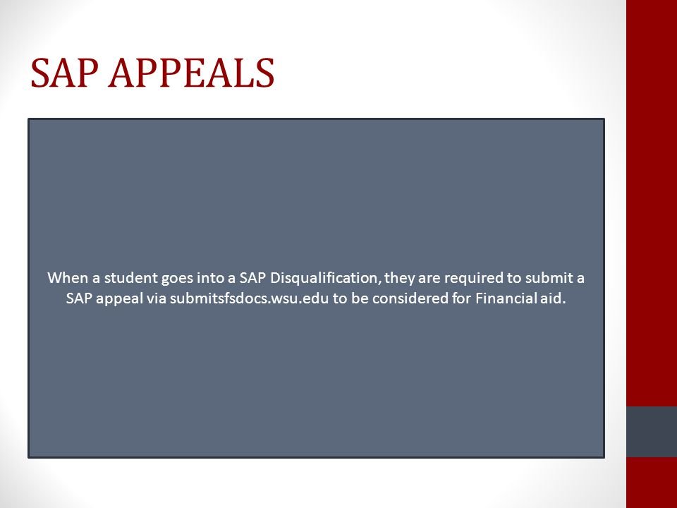 SAP APPEALS