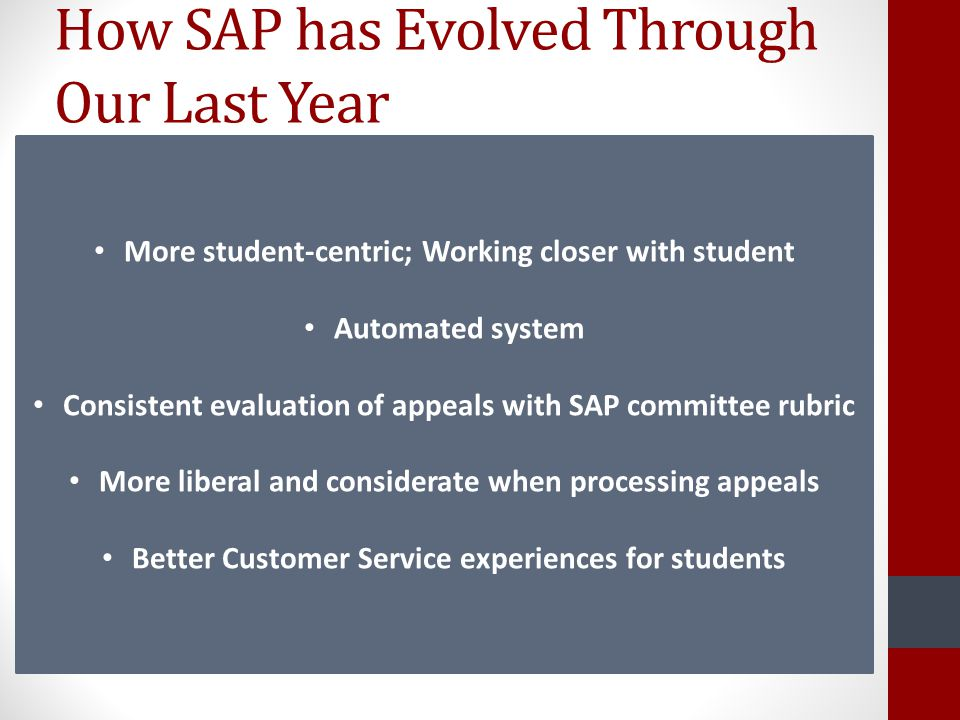 How SAP has Evolved Through Our Last Year