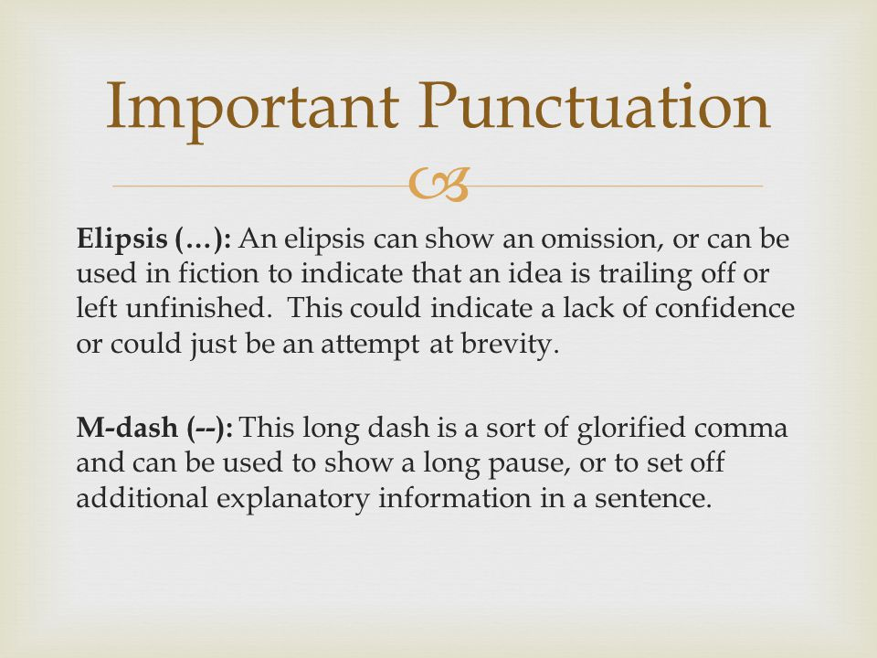 Important Punctuation