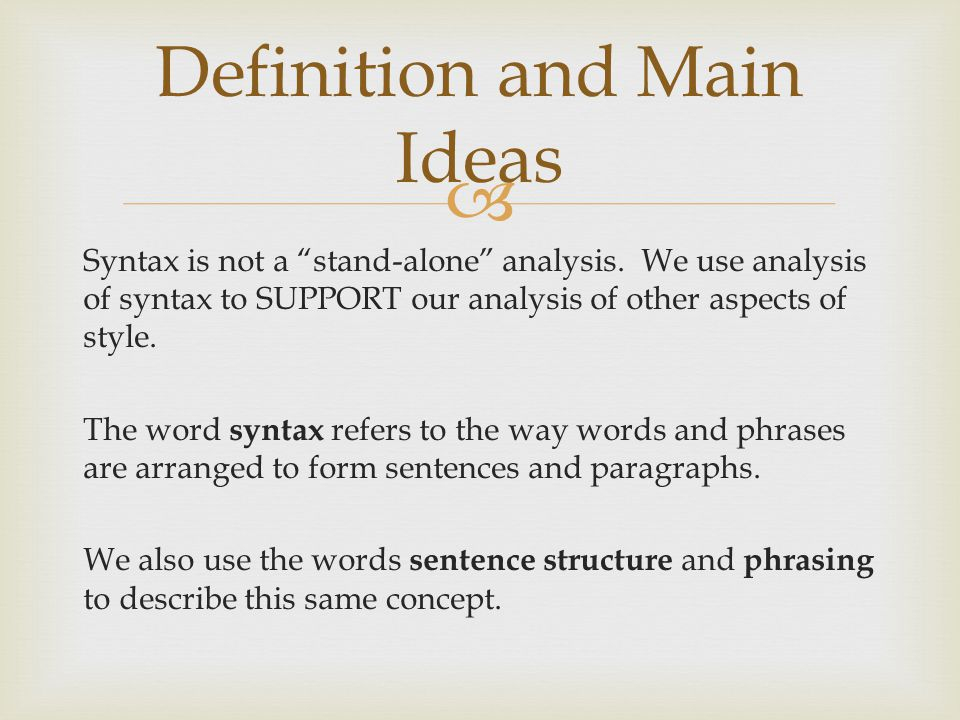 Definition and Main Ideas