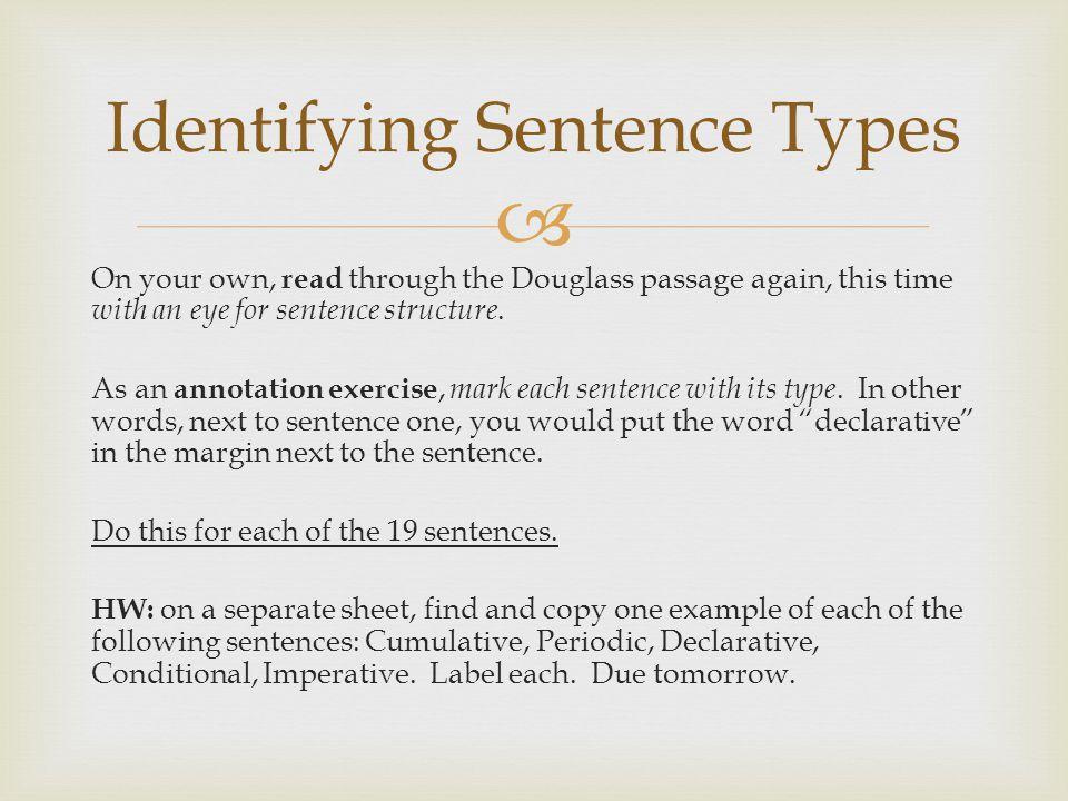 Identifying Sentence Types