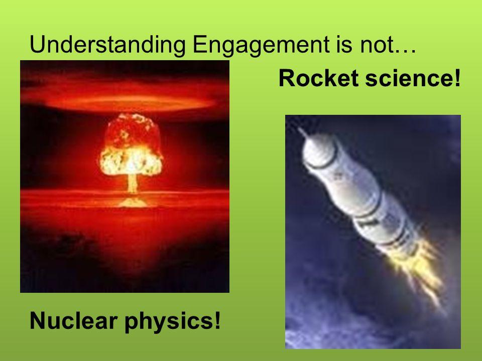 Understanding Engagement is not…