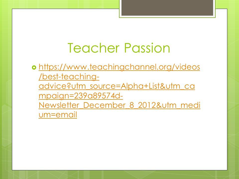 Teacher Passion