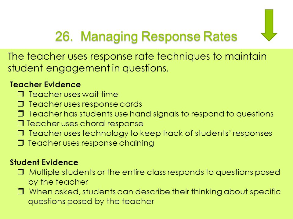 26. Managing Response Rates