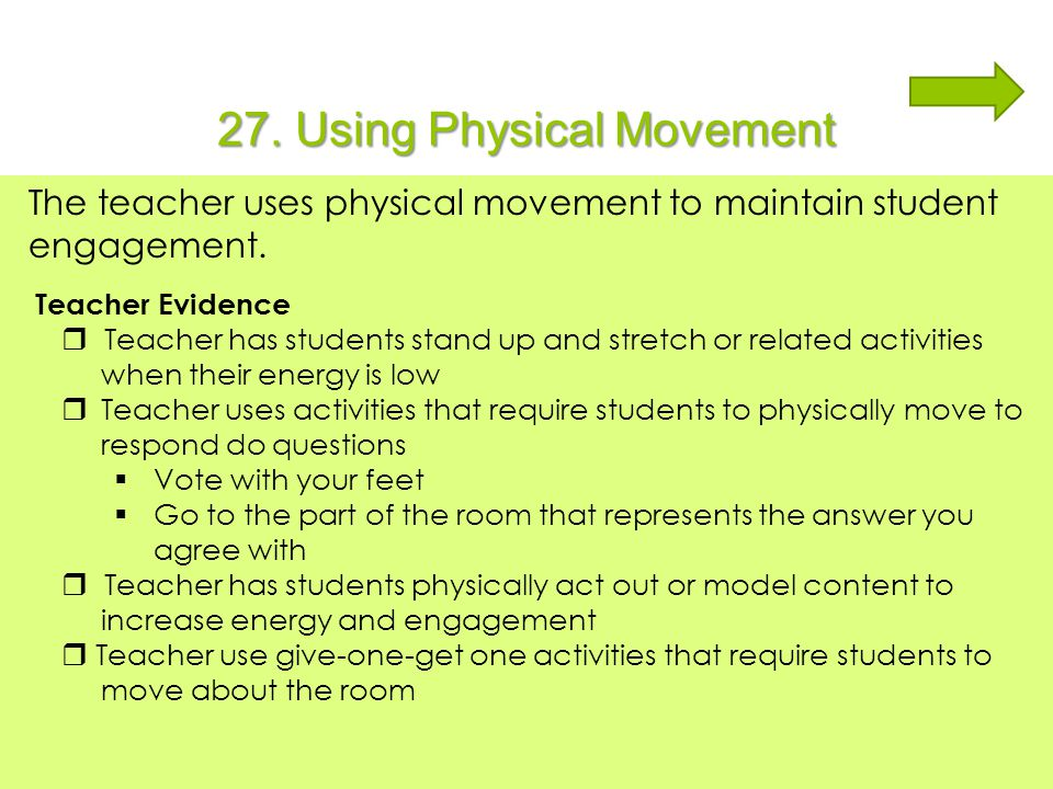 27. Using Physical Movement