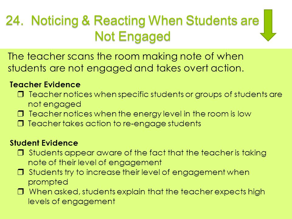 24. Noticing & Reacting When Students are Not Engaged