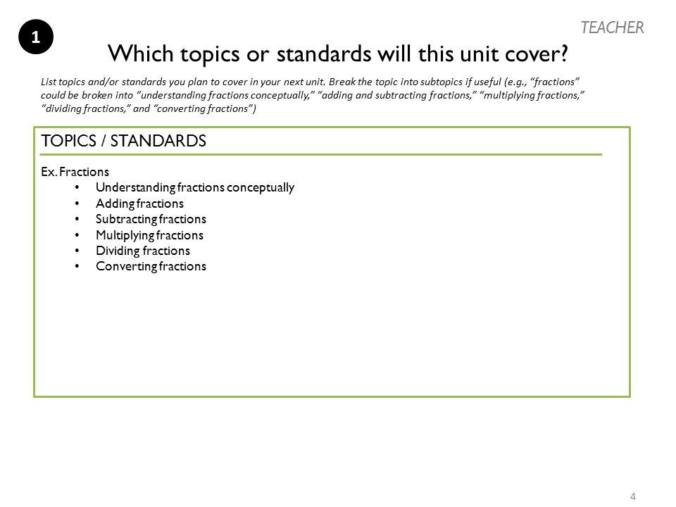 Which topics or standards will this unit cover
