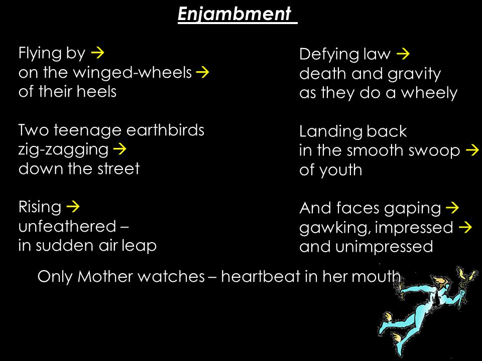Enjambment Flying by  Defying law 