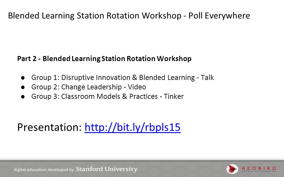 Blended Learning Station Rotation Workshop - Poll Everywhere