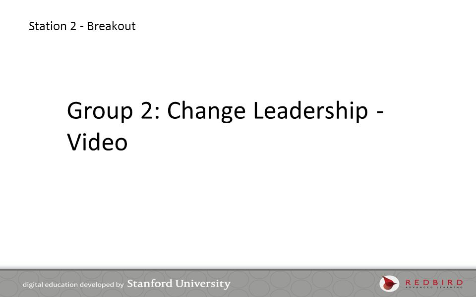 Group 2: Change Leadership - Video