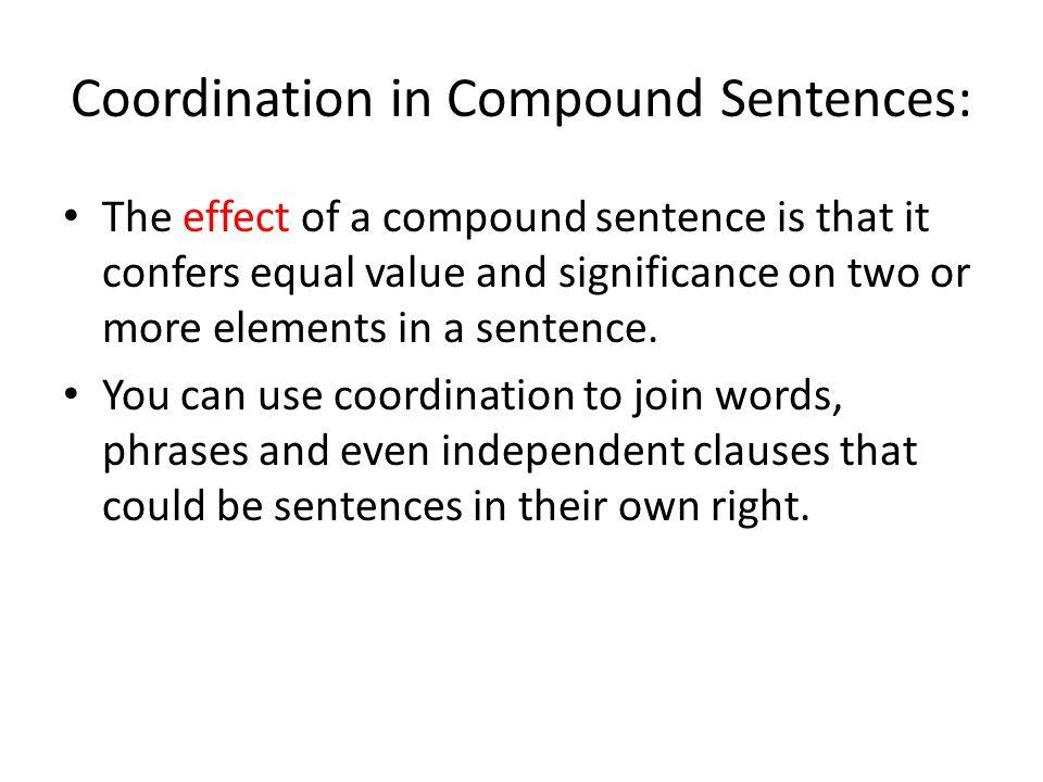 Coordination in Compound Sentences:
