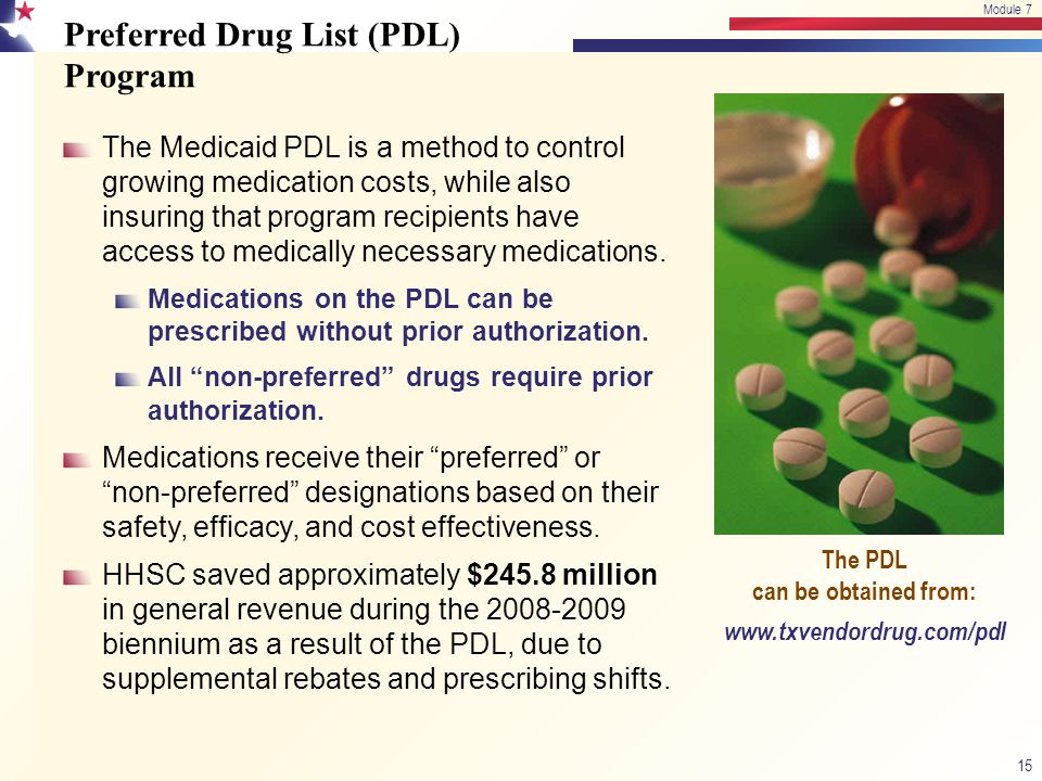 Preferred Drug List (PDL) Program