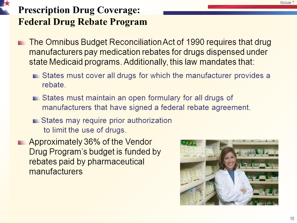 Prescription Drug Coverage: Federal Drug Rebate Program