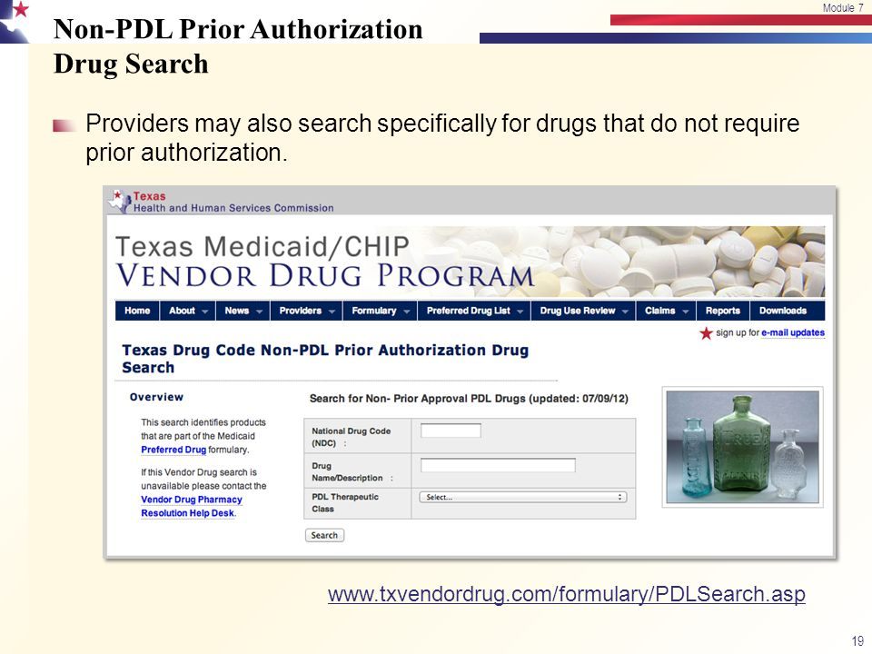 Non-PDL Prior Authorization Drug Search