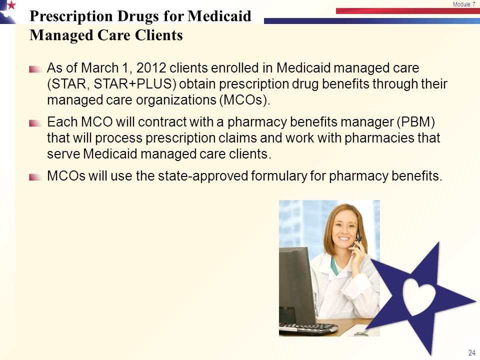 Prescription Drugs for Medicaid Managed Care Clients