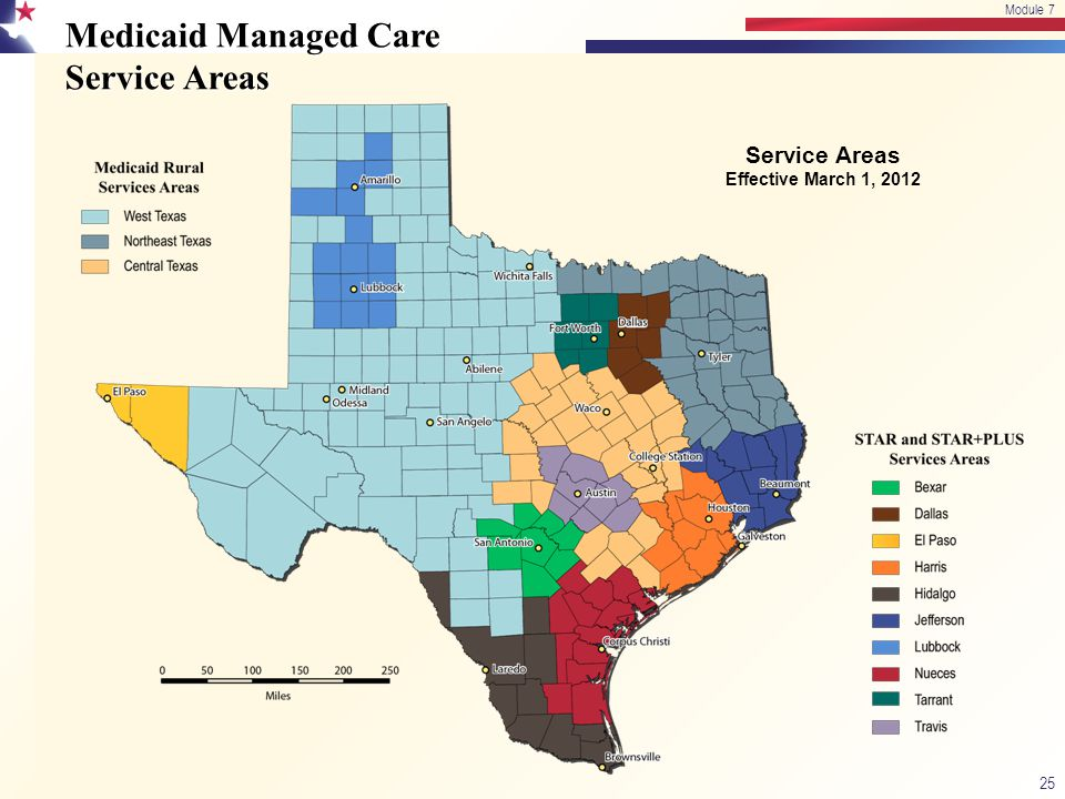 Medicaid Managed Care Service Areas