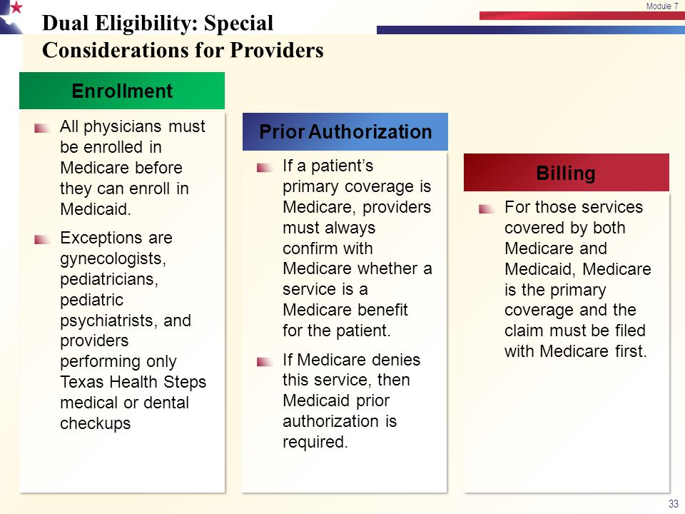 Dual Eligibility: Special Considerations for Providers