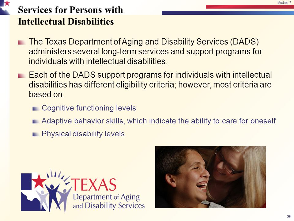 Services for Persons with Intellectual Disabilities