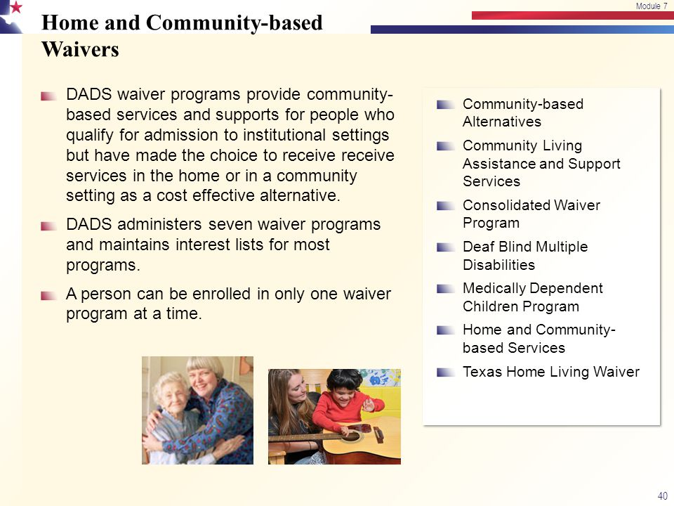 Home and Community-based Waivers