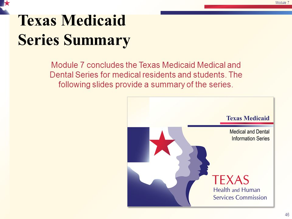 Texas Medicaid Series Summary