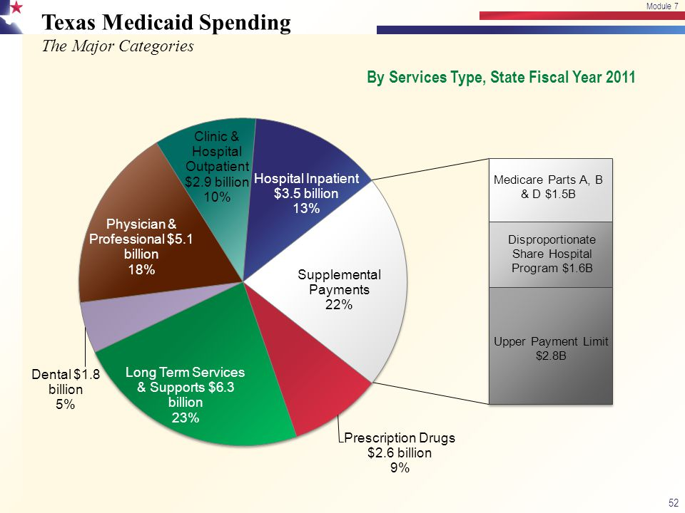 Texas Medicaid Spending The Major Categories